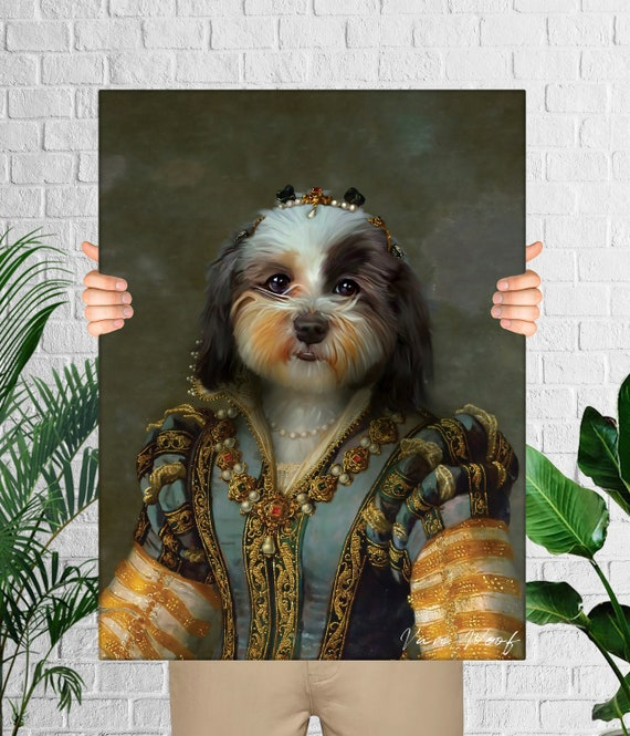 Gift ideas Custom Animal Portrait RG3 Classic Pet Portrait Royal Pet Portrait Funny Gift Custom Renaissance Pet Portrait