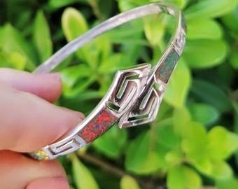 Silver Opal Bracelet Sterling Silver 925 Free Express Delivery
