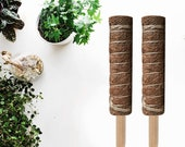 GROW-UP Eco Moss Pole Totem Pole Coir Stick 100cm For Creepers Climbing Indoor Outdoor Plants - Great Wall Dividers Garden Privacy