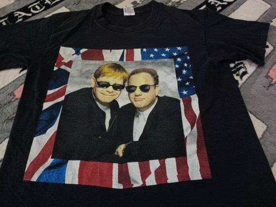 Vintage Elton John Billy Joel singer t shirt