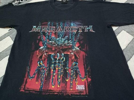 Vintage Megadeth metal band 90s t shirt