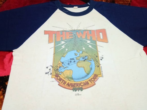 Vintage The Who band 70s men's t shirt