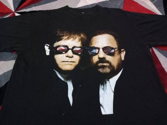 Vintage Billy Joel Elton John singer t shirt