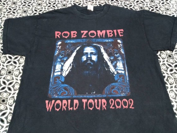 Rob Zombie 2002 tour band tour t shirt