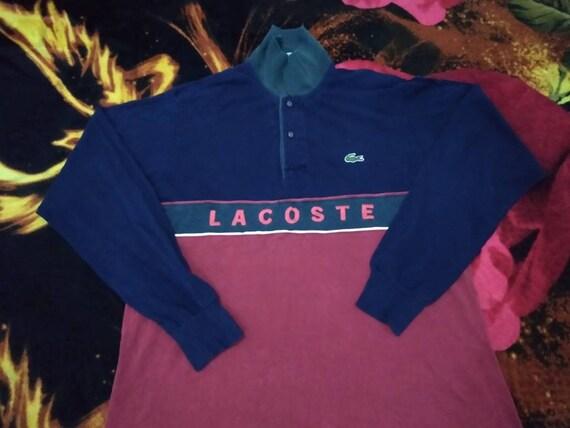 Vintage Lacoste polo shirt multicolor