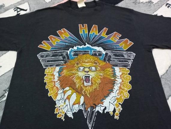 Vintage Van Halen 80s band medium t shirt