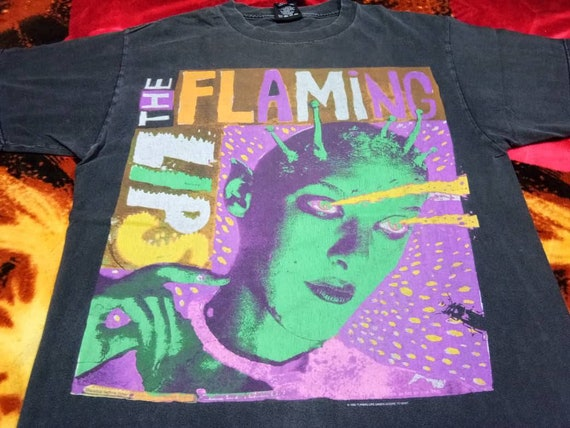 Vintage The Flaming Lips band 90s men t shirt