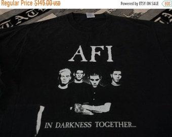 Vintage AFI band the darkness together band t shirt