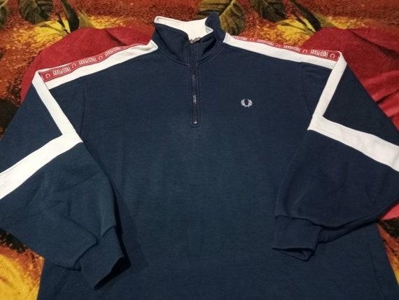 Vintage Fred Perry side tape sweatshirt men's half