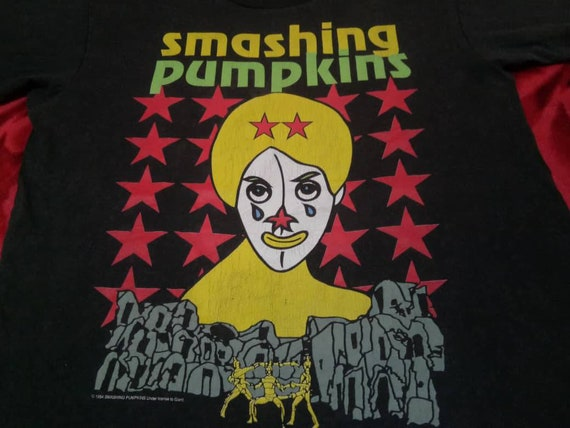 Vintage The Smashing Pumpkins band 90s men's t shi