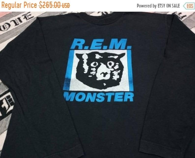 Vintage Rem monster band 90s long sleeve t-shirt image 1