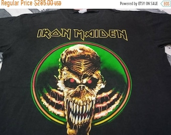 Vintage Iron maiden heavy metal 90s band t shirt