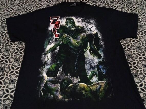 Vintage Rob Zombie band movie promo t shirt