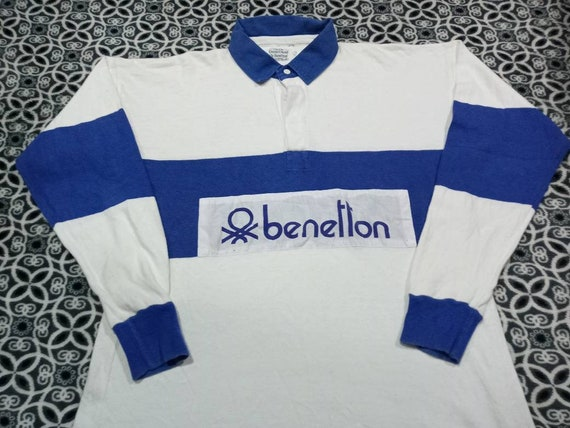 Vintage Benetton rugby polo men's  shirt