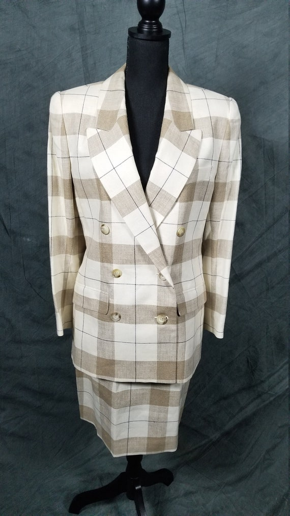 Brooks brother Linen skirt suit