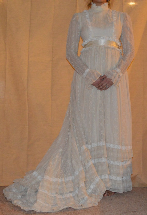 Vintage 1900's Wedding Dress w/ Train