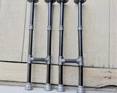 Steel black iron legs, Industrial pipe decor table legs, Flanges and pipes for custom vintage tables and furniture decorations, Table legs