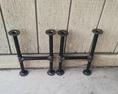 Table legs,Industrial black pipe legs, Rustic pipe legs,Vintage steel table legs, Iron table legs,Coffee table legs,Dining iron table legs