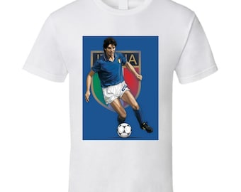 World Cup Spain 1982-vintage Jersey Replica S Top Scorer and Best Player in the 12th World Cup Paolo Rossi Jersey 1982# 20 Paolo Rossi World Cup Edition Italy Home Soccer Jersey