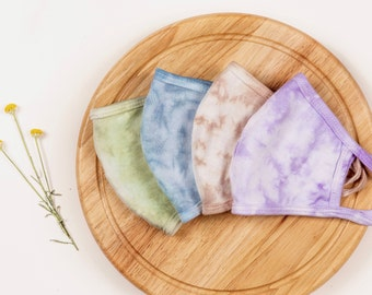 Tie Dye Face Mask, Summer Mask, Double Layered, Fashion Face Mask, Face Mask for Adults, Fast Delivery, Tie Dye, Pastel Tie Dye, Reusable
