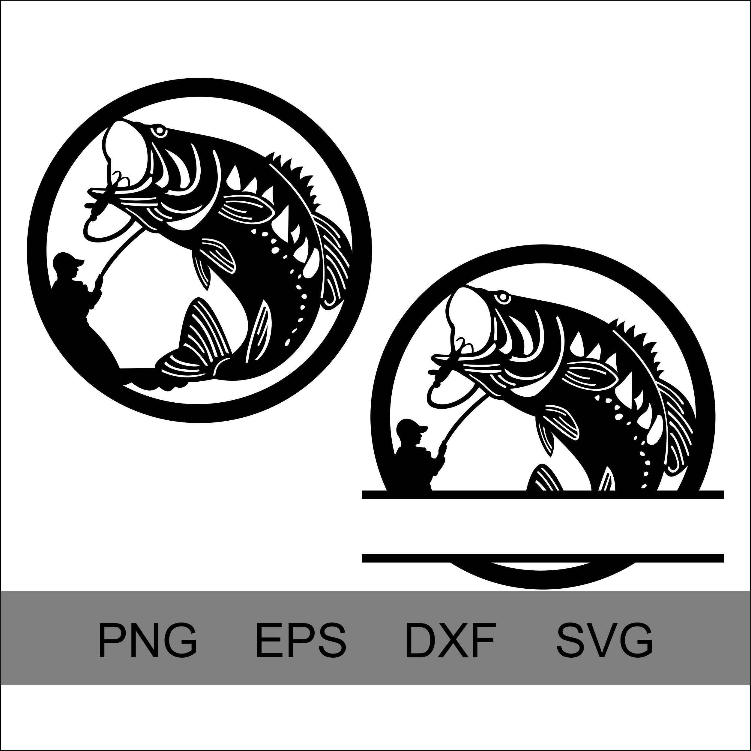 Download Fishing Svg Fishing Dxf Fishing Silhouette Cutting Files Etsy