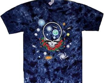 Grateful Dead T Shirt Space Your Face Band Logo Vintage new Official Mens Black