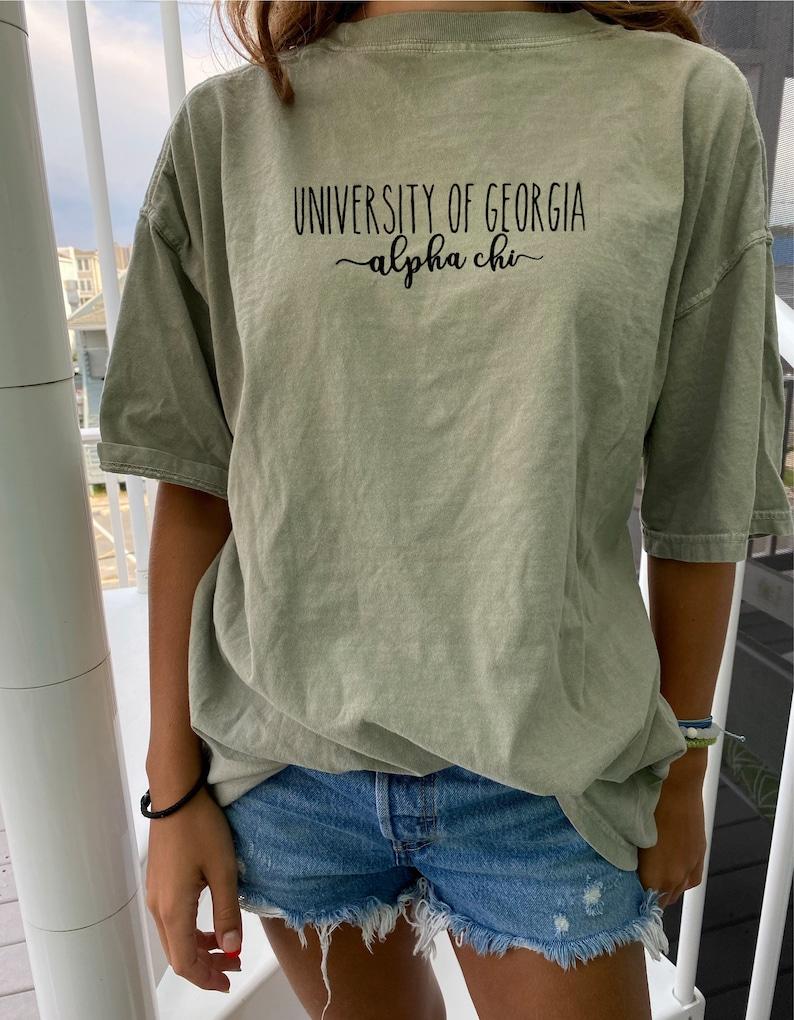 Comfort Colors Sorority College Custom T-Shirt University Sorority Tee Big Sis Little Shirts