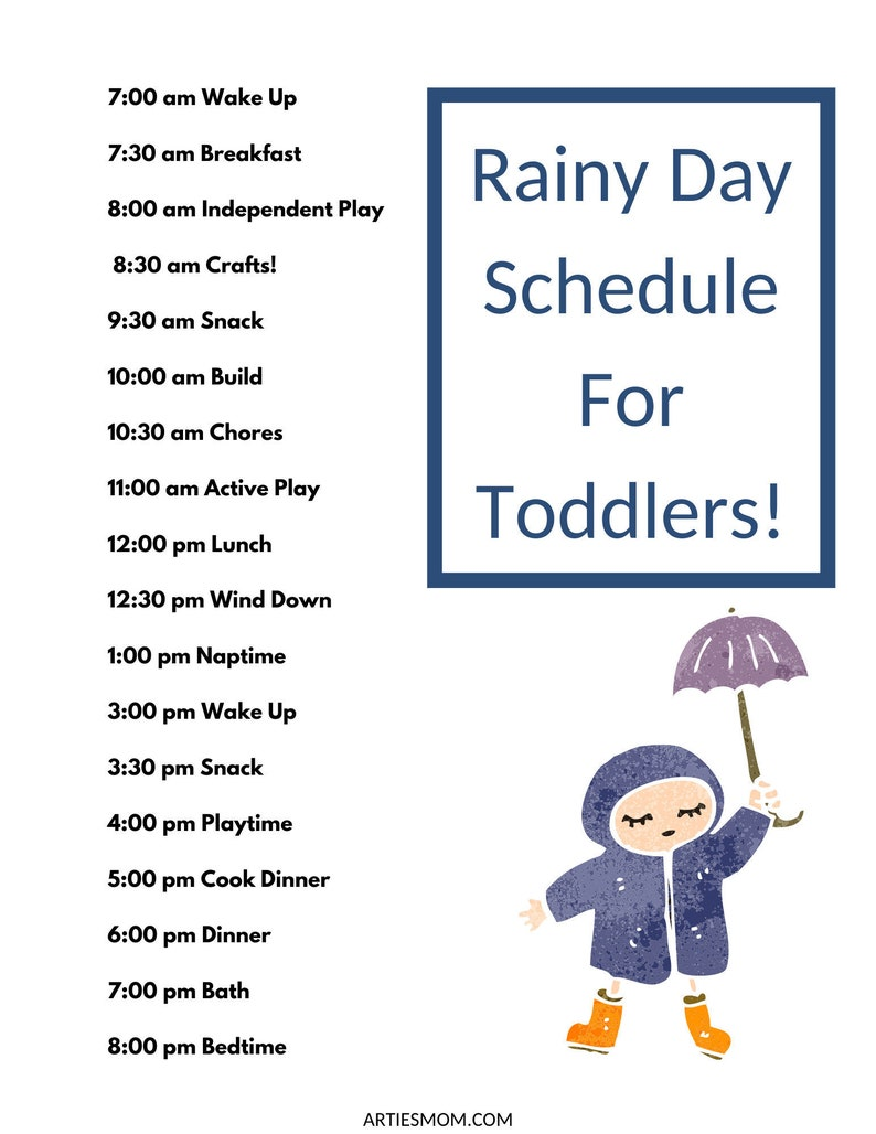 Rainy Day Schedule For Toddlers image 1