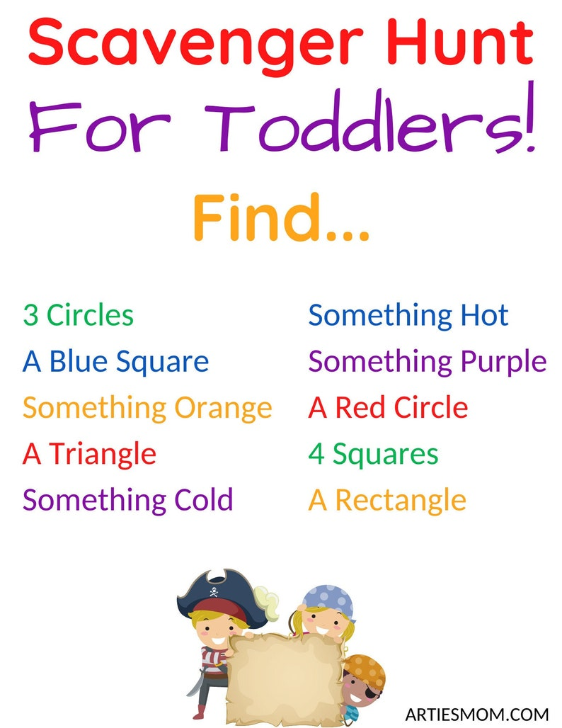 Scavenger Hunt For Toddlers Learning Shapes Numbers And image 0