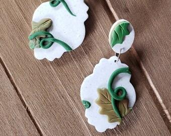 Pumpkin Patch Leaves earrings