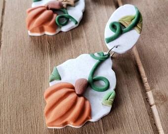 Pumpkin Patch dangle earrings