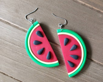 Watermelon Slice dangle earrings
