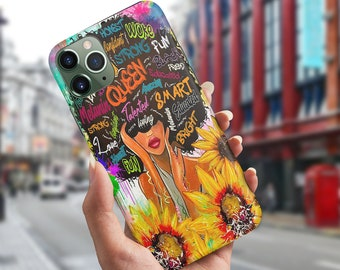 Black Women Case Samsung Galaxy TCP07 Black Girl Case Feminism Case Black Queen Phone Case Iphone 12 Available Afro Queen Phone Case