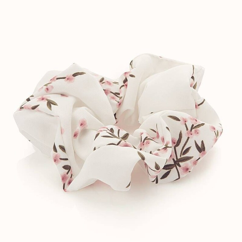 Handmade Silk Scrunchie Flowers Print Party Favors and Gift for Bridal Bachelorette Party Zero Waste Valentine/'s Day Special Gift Idea