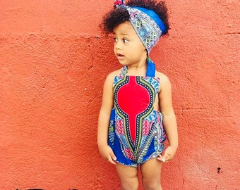 Kids Baby Toddler Crew Neck Sweatshirt Unisex  Hot Pink Dashiki Ankara African Print Sleeves  6m 910
