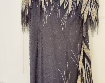 Great Gatsby 1920s style sequence dress
