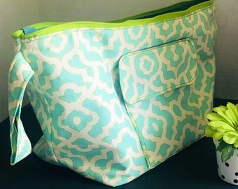 Knitting or Crochet Project Tote/Cosmetic