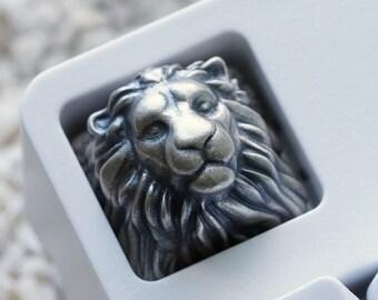 Sterling Silver 925 Lion Keycap for Mechanical Keyboard / Artisian Keycap / Cherry MX / Precious Gift / Artefact / Keyrelic / Metal Keycaps