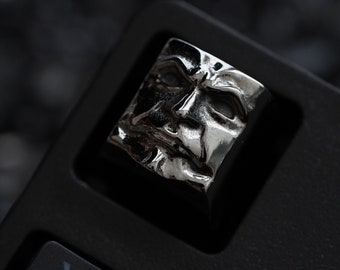 Imperfectus - The Dark Pope Metal Keycap - Imperfect Ruthenium Finish - Keycap for Mechanical Keyboard / Cherry Profile / Limited Edition