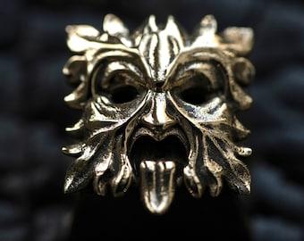 Greenman - Premium Solid Bronze  Keycap for Cherry MX/ Mechanical Keyboard / Artisan / Gothic / KeyRelic / Architecture / Grimdark / Leaf