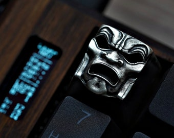 The Immortal - Solid Sterling Silver 925 Keycap from KeyRelic / Artisian / Cherry MX / Mechanical Keyboard / Menpo / Precious Metal Gift