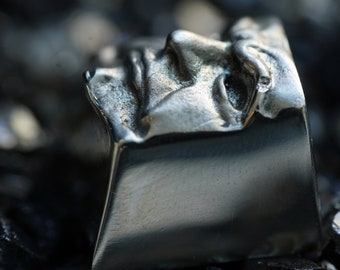 The Judge - New Alloy Solid Argentan Keycap for Cherry MX switches / Mechanical Keyboard / Gothic Metal Face Keyrelic / Collectible