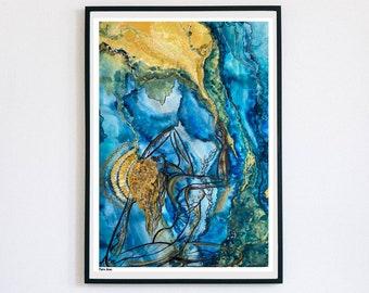 Yoga Flow Watercolor Print