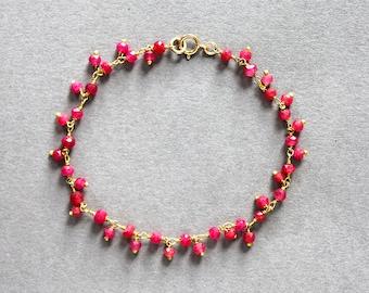 Gold & ruby bracelet