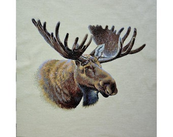 upholstery fabric sample 26 x 27 brown moose