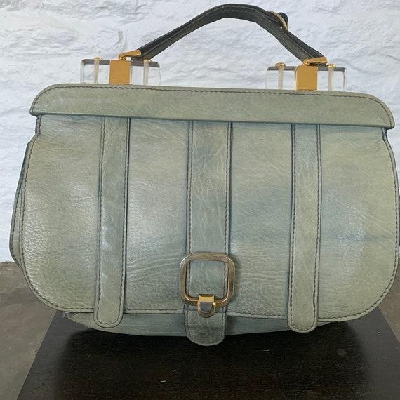 vintage handbag with lucite