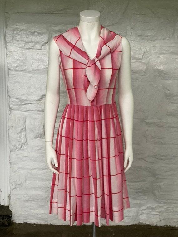 Vintage windowpane sailor dress