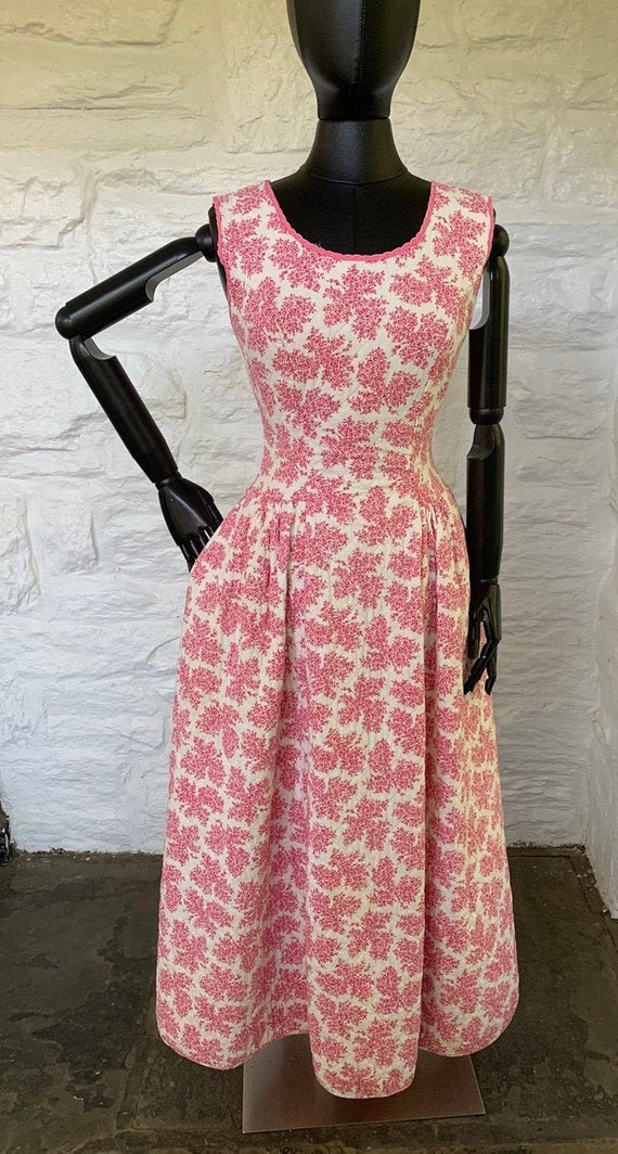 Vintage cotton quilted dress