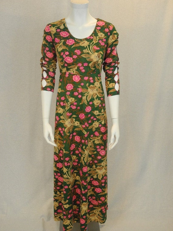 vintage floral 3/4 sleeve dress
