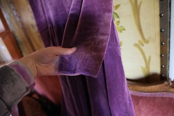 Vintage 1970s Authentic Gunne Sax Purple Velvet V… - image 8